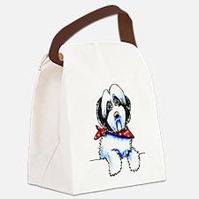 Parti Havanese Art Canvas Lunch Bag