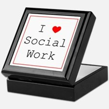I Love Social Work Keepsake Box