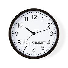 Hall Summit Newsroom Wall Clock
