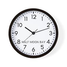Half Moon Bay Newsroom Wall Clock