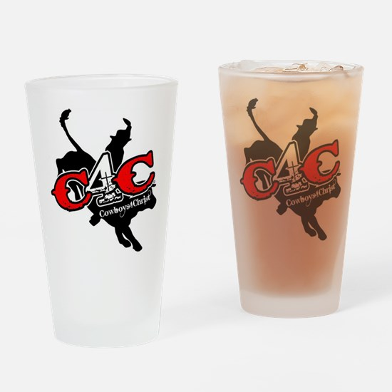 New C4c Bull Rider Design Drinking Glass