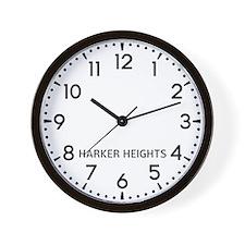 Harker Heights Newsroom Wall Clock