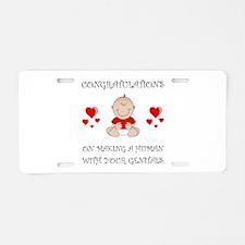 Congratulations Genitals Aluminum License Plate