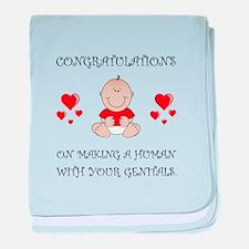Congratulations Genitals baby blanket