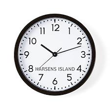 Harsens Island Newsroom Wall Clock
