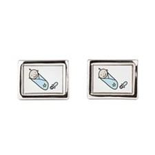 Baby Boy Rectangular Cufflinks