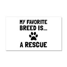 Favorite Breed Rescue Car Magnet 20 x 12