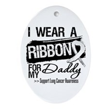 Daddy Lung Cancer Ornament (Oval)