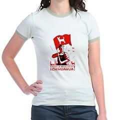 Chihuahua Patriotism -Ringer T-shirt