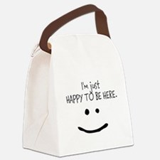 happy to be here (light) Canvas Lunch Bag