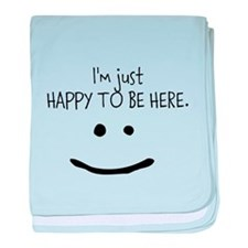 happy to be here (light) baby blanket