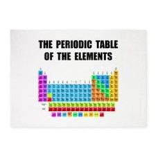 Periodic Table Elements 5'x7'Area Rug
