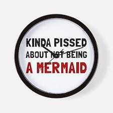 Pissed Not Mermaid Wall Clock