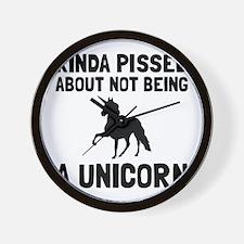 Pissed Not Unicorn Wall Clock