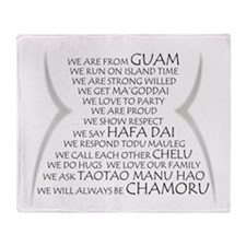We are Chamoru Throw Blanket