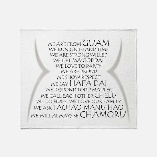 We are Chamoru Throw Blanket