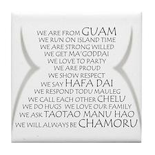 We are Chamoru Tile Coaster