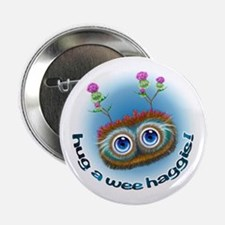 "Hoots Toots Haggis 'Hugs' 2.25"" Button"