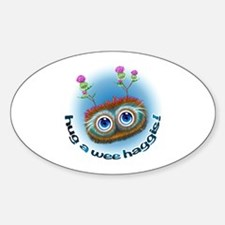 Hoots Toots Haggis 'Hugs' Sticker (Oval)