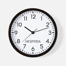 Hesperia Newsroom Wall Clock