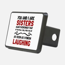Sisters Laughing Hitch Cover