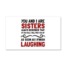 Sisters Laughing Car Magnet 20 x 12