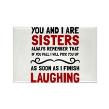 Sisters Laughing Magnets