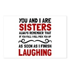 Sisters Laughing Postcards (Package of 8)