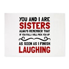 Sisters Laughing 5'x7'Area Rug