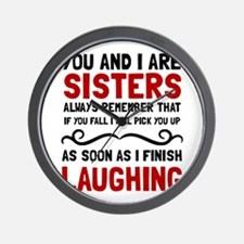 Sisters Laughing Wall Clock