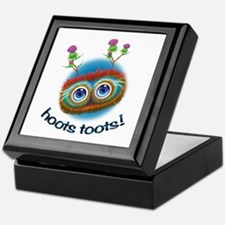 Hoots Toots Haggis 'Hugs' Keepsake Box