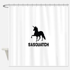 Unicorn Sasquatch Shower Curtain