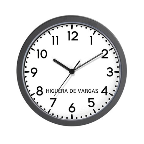 Higuera De Vargas Newsroom Wall Clock