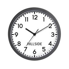 Hillside Newsroom Wall Clock