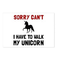 Walk Unicorn Postcards (Package of 8)