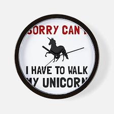 Walk Unicorn Wall Clock