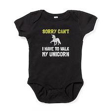 Walk Unicorn Baby Bodysuit