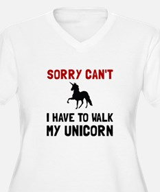 Walk Unicorn Plus Size T-Shirt