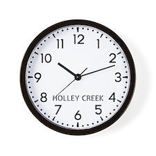 Holley Creek Newsroom Wall Clock