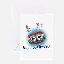 Hoots Toots Haggis 'Hugs' Greeting Card