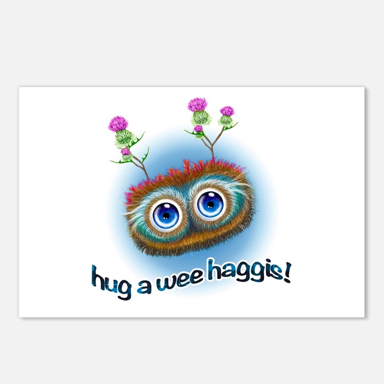 Hoots Toots Haggis 'Hugs' Postcards (Package of 8)