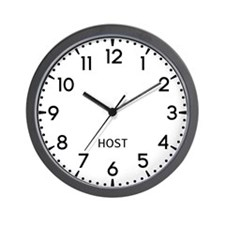 Host Newsroom Wall Clock