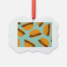 Cute Burger Pattern Ornament