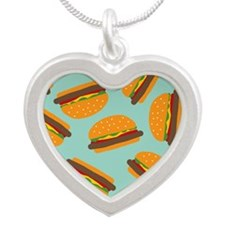 Cute Burger Pattern Necklaces