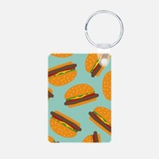 Cute Burger Pattern Keychains