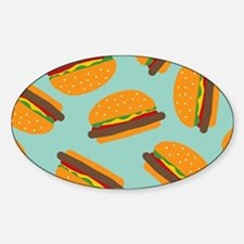 Cute Burger Pattern Decal