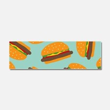 Cute Burger Pattern Car Magnet 10 x 3