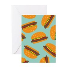 Cute Burger Pattern Greeting Cards
