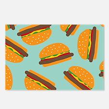 Cute Burger Pattern Postcards (Package of 8)