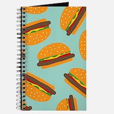 Cute Burger Pattern Journal